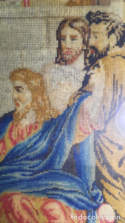 Antigüedades: tapiz enmarcado de siglo xviii - Foto 5 - 255004120