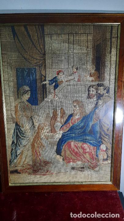 Antigüedades: tapiz enmarcado de siglo xviii - Foto 6 - 255004120
