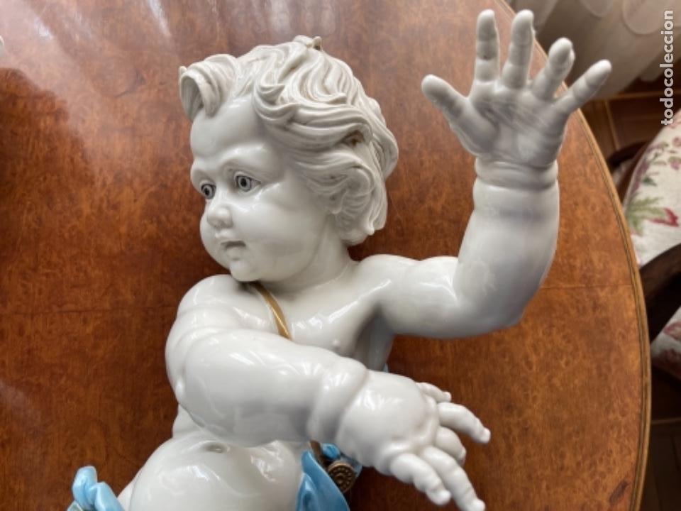 Antigüedades: DOS ANGELOTES DE PORCELANA ALGORA CALZÓN AZUL MIRA FOTOS Y DESCRIPCIÓN - Foto 11 - 255010315