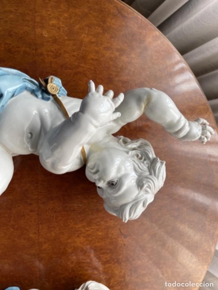 Antigüedades: DOS ANGELOTES DE PORCELANA ALGORA CALZÓN AZUL MIRA FOTOS Y DESCRIPCIÓN - Foto 12 - 255010315