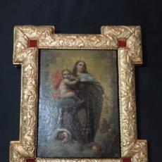 Antigüedades: TABLA DE CEDRO VIRGEN SIGLO XVIII COLONIAL. Lote 255017665