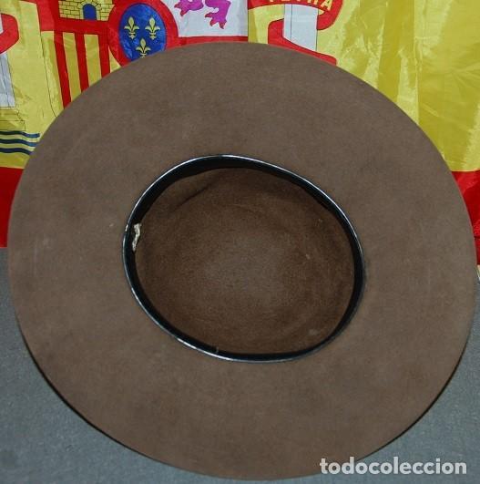 Antigüedades: SOMBRERO DE ALA ANCHA CASTELLANO TALLA 60/62 - Foto 4 - 255026465