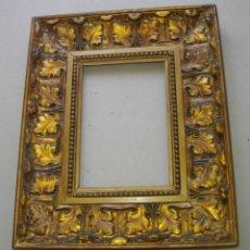 Antigüedades: MARCO BARROCO , EN MADERA Y CON PAN DE ORO 36 X 20 CTMS (ADMITE 20X 14,5 CTMS). Lote 255312115