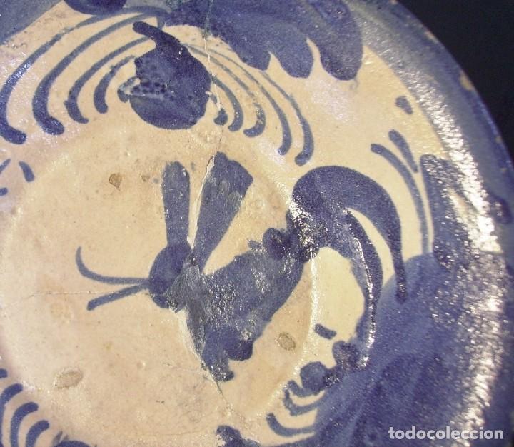 Antigüedades: PLATO CERÁMICA ARAGONESA DE MUEL XVIII - Foto 4 - 255371205