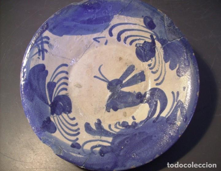Antigüedades: PLATO CERÁMICA ARAGONESA DE MUEL XVIII - Foto 6 - 255371205