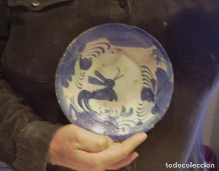 Antigüedades: PLATO CERÁMICA ARAGONESA DE MUEL XVIII - Foto 10 - 255371205
