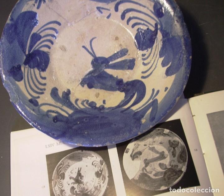 Antigüedades: PLATO CERÁMICA ARAGONESA DE MUEL XVIII - Foto 12 - 255371205