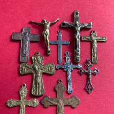 Antiguidades: ANTIGUOS CRUCIFIJOS RELIGIOSOS SIGLOS XVII - XVIII - XIX.. Lote 255371645