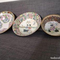 Antigüedades: 3 CUENCOS MEDIANOS DE PORCELANA CHINA DE MACAO. Lote 255372910