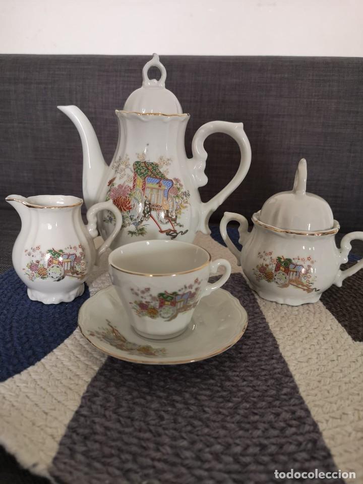 Antigüedades: JUEGO DE CAFÉ O TÉ DE PORCELANA FINA JAPONESA - Foto 3 - 255377225