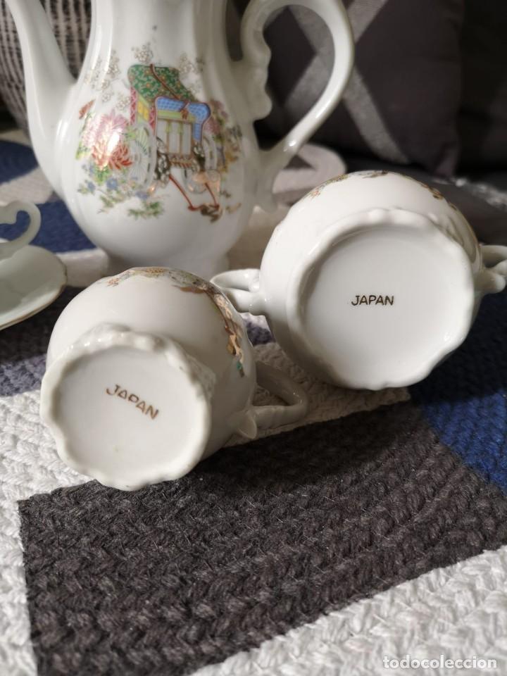 Antigüedades: JUEGO DE CAFÉ O TÉ DE PORCELANA FINA JAPONESA - Foto 4 - 255377225