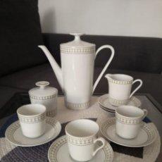 Antigüedades: JUEGO DE CAFÉ O TÉ EN PORCELANA DE BAVARIA ALEMANIA ESCHENBACH. Lote 255389610