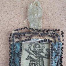 Antigüedades: ANTIGUO ESCAPULARIO. GRABADO SAN ESTEBAN. SIGLO XVIII. Lote 255393095