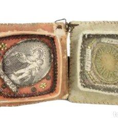 Antigüedades: RELICARIO EXVOTO SXVII. VIRGEN DEL CARMEN, STA TARESE ST YGNASI STA LLUCIA ST TEYSAT. Lote 210184053