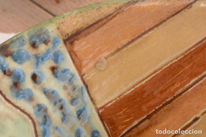 Antigüedades: Plato de cerámica tradicional catalana La Bisbal firmado Puigdemont - Foto 5 - 255404985