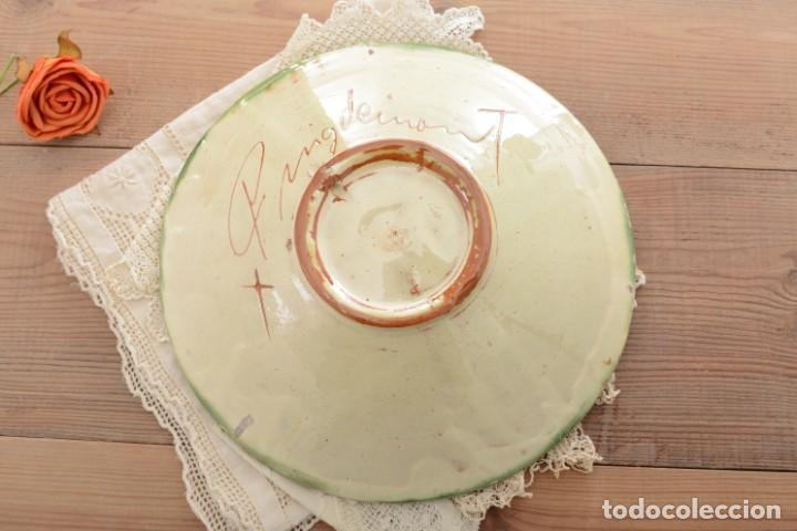 Antigüedades: Plato de cerámica tradicional catalana La Bisbal firmado Puigdemont - Foto 7 - 255404985