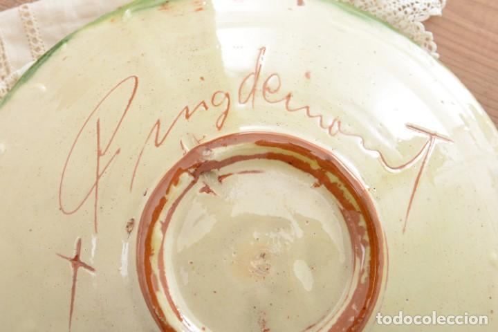 Antigüedades: Plato de cerámica tradicional catalana La Bisbal firmado Puigdemont - Foto 8 - 255404985