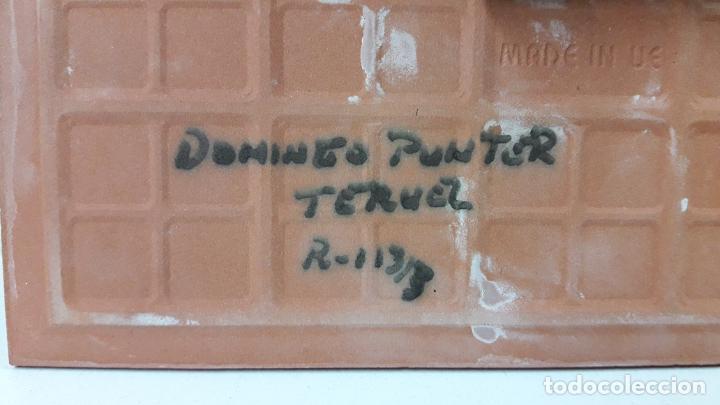 Antigüedades: RELOJ EN AZULEJO - CERAMICA DE TERUEL . FIRMADO DOMINGO PUNTER - Foto 5 - 255415675