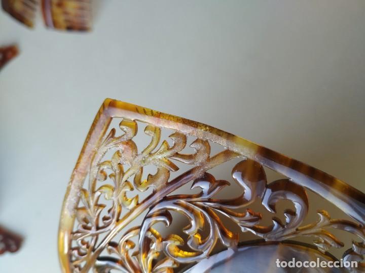 Antigüedades: Lote 11 antiguas peinetas. Diferentes modelos, tamaños. Diadema. Pelo - Foto 12 - 255434410