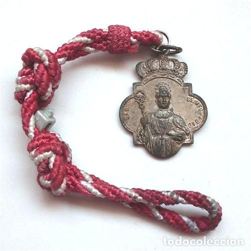 MEDALLA DE LA HERMANDAD MATRIZ DE SAN BENITO ABAD. PATRÓN DE CASTILBLANCO DE LOS ARROYOS (SEVILLA) (Antigüedades - Religiosas - Medallas Antiguas)