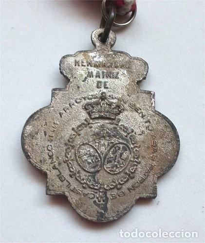 Antigüedades: Medalla de la Hermandad matriz de San Benito Abad. patrón de Castilblanco de los Arroyos (Sevilla) - Foto 3 - 255447645