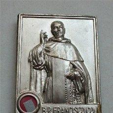 Antigüedades: RELICARIO DOBLE DEL B. P. FRANCISCO COLL. ORDEN DE PREDICADORES. DOMINICOS. SANTO DOMINGO. Lote 255447885