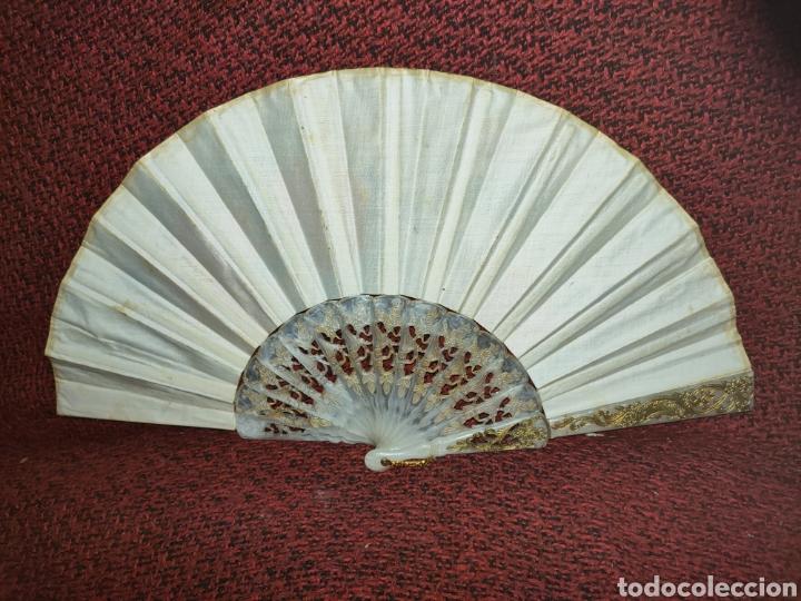 Antigüedades: ABANICO ANTIGUO PINTADO A MANO - Foto 9 - 255471285