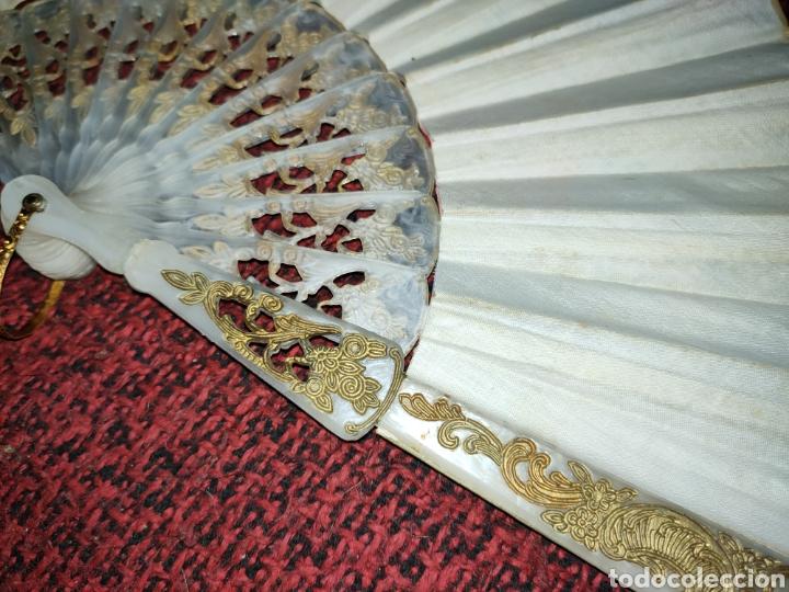 Antigüedades: ABANICO ANTIGUO PINTADO A MANO - Foto 11 - 255471285