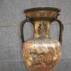 Antigüedades: UN PRECIOSO GRAN JARRÓN GRIEGO DE TERRACOTA, FIRMADO - DE 52 CM ALTO / ARISTÓTELES Y ALEJANDRO MAGNO. Lote 255477120
