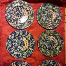 Antigüedades: 6 PLATITOS FAJALAUZA MUY ANTIGUOS. Lote 255479335