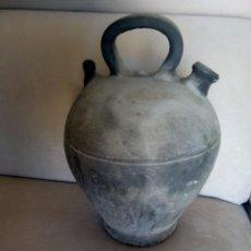Antigüedades: * BOTIJO CERAMICA NEGRA.JOSE FONT.VERDU. 34 CM. (RF:BC/E). Lote 255509485