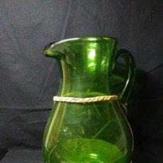 Antigüedades: ANTIGUO JARRA DE CRISTAL SIGLO XIX ,VIDREO VERDE ,. Lote 255522285