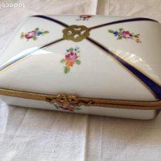 Antiquités: CAJA DE PORCELANA ESMALTADA DE LIMOGES. S XX. Lote 255531005
