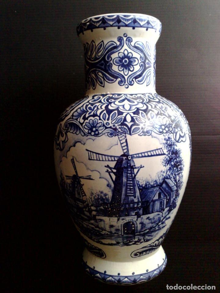JARRON AZUL DELFT,FIRMADO T.DELFT BLEAU (DESCRIPCIÓN) (Antigüedades - Porcelana y Cerámica - Holandesa - Delft)