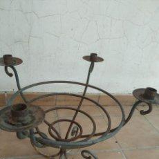 Antigüedades: ANTIGUO MACETERO,HIERRO, JARDINERA, BARBACOA TIPO INGLES, PORTAVELAS CANDELABRO, ARTESANAL, VINTAGE. Lote 255539925