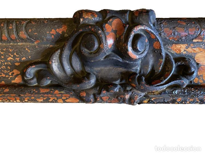 Antigüedades: Espectacular marco de madera antiguo,S.XIX, negro, óxido.madera.... - Foto 4 - 255548370