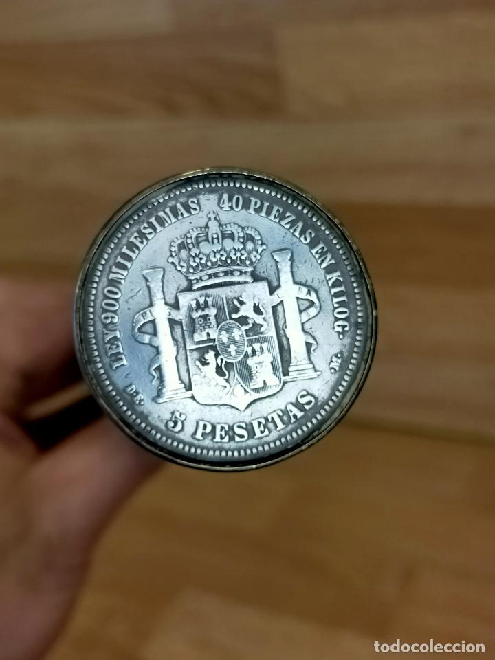Antigüedades: BASTON antiguo con moneda de 5 pesetas de plata - Foto 5 - 255554640