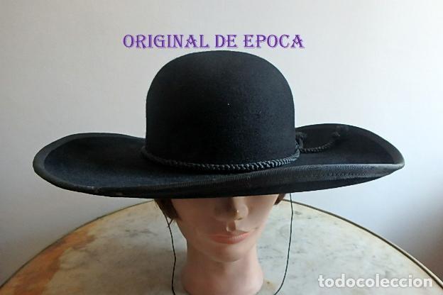 (JX-210403)ANTIGUA TEJA,SOMBRERO PARA SACERDOTE,CURA,CAPELLÁN,REALIZADO EN SOMBRERERÍA CELADA,MADRID (Antigüedades - Moda - Sombreros Antiguos)