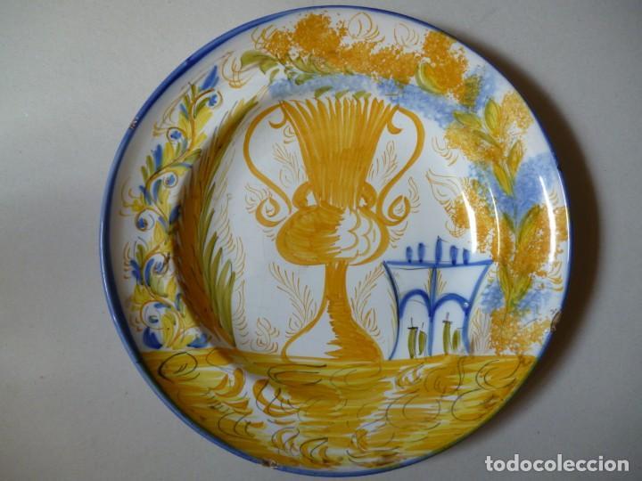 PLATO DE CERÁMICA DE MANISES (Antigüedades - Porcelanas y Cerámicas - Manises)