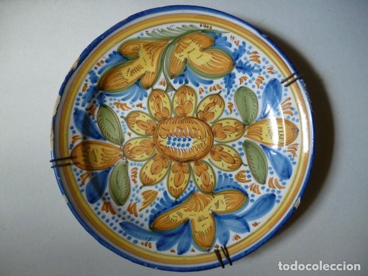 PLATO DE CERÁMICA DE MANISES SIGLO XIX (Antigüedades - Porcelanas y Cerámicas - Manises)