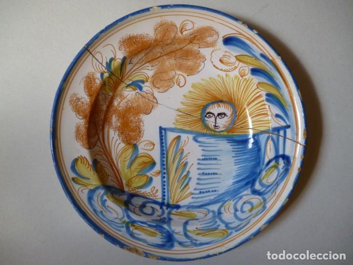 PLATO DE RIBESALBES O MANISES SIGLO XIX (Antigüedades - Porcelanas y Cerámicas - Manises)