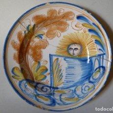 Antigüedades: PLATO DE RIBESALBES O MANISES SIGLO XIX. Lote 255578495