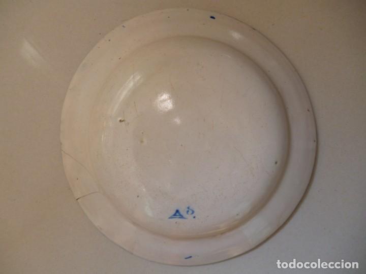 Antigüedades: Plato de cerámica de Manises siglo XIX fábrica de Arenes - Foto 2 - 255579780