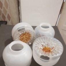Antigüedades: TULIPAS CRISTAL MURANO. Lote 255583255