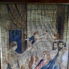 Antigüedades: TAPIZ ENMARCADO DE SIGLO XVIII. Lote 255004120