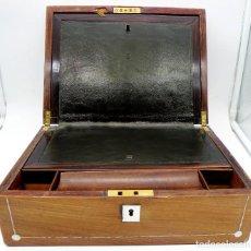 Antigüedades: ESCRITORIO DE BARCO INGLÉS SIGLO XIX. Lote 255598790
