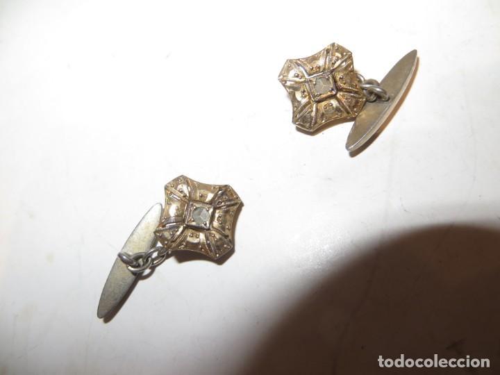 Antigüedades: ANTIGUOS GEMELOS PARA PUÑOS CAMISA BISUTERIA MUY BUENA DE LA EPOCA,BARATOS - Foto 4 - 255628585