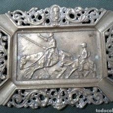 Antigüedades: ANTIGUO CENICERO DE BRONCE DON QUIJOTE Y SANCHO PANZA.. Lote 255642540