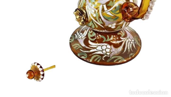 Antigüedades: Gran y único porrón o jarra en cristal soplado y esmaltado. Genís Cirera. (1890-1970) 39x20cm - Foto 8 - 248222280