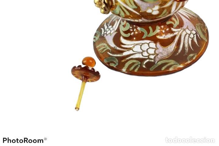 Antigüedades: Gran y único porrón o jarra en cristal soplado y esmaltado. Genís Cirera. (1890-1970) 39x20cm - Foto 12 - 248222280